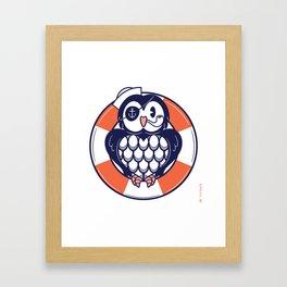 AHOY CAPTAIN HOOTER! Framed Art Print