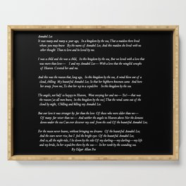 Annabel Lee Edgar Allan Poe black Classic Poem Serving Tray