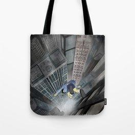 '跳下去的一秒 The Moment While Jumping off' Illustration 3 Tote Bag