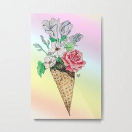 Vegan Ice Cream Metal Print