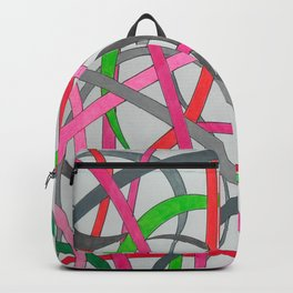 curvy lines Backpack