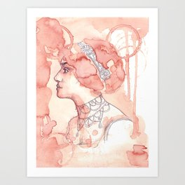 Coffee lady Art Print
