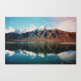 Film photo of New Zealand Glacier Landscape Canvas Print