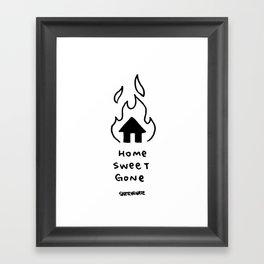 home sweet gone Framed Art Print