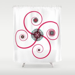Sacred Geometry Spiro Shower Curtain