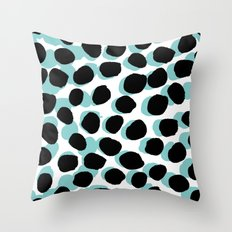 Malea Print -  Spots, Dots, painterly pattern, design, painted design, print surface design Throw Pillow