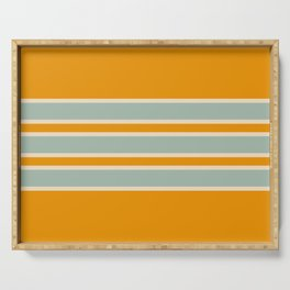 70s Style Retro Stripes Ceres Serving Tray
