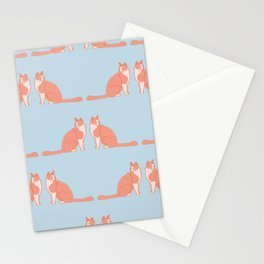 Cute Funny Cat Pattern Stationery Cards