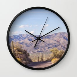 Down Desert Roads, IV Wall Clock