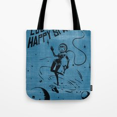 Lost In My Happy Space, blue Tote Bag