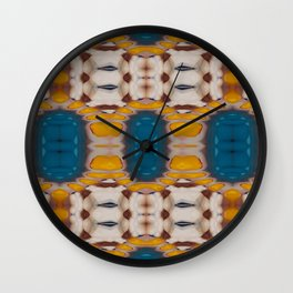 New Color Pyramidal Mandala 73 - Pattern 1 Wall Clock