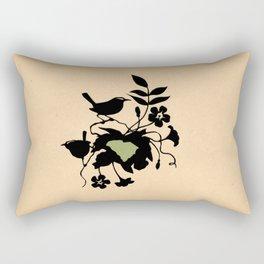 South Carolina - State Papercut Print Rectangular Pillow