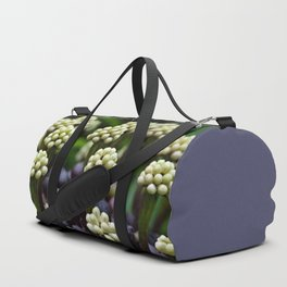 Green Aralia Flowers Duffle Bag