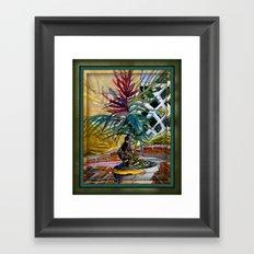 Sunny Palm Tree Framed Art Print
