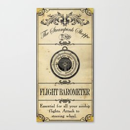 Steampunk Apothecary Shoppe - Barometer Canvas Print