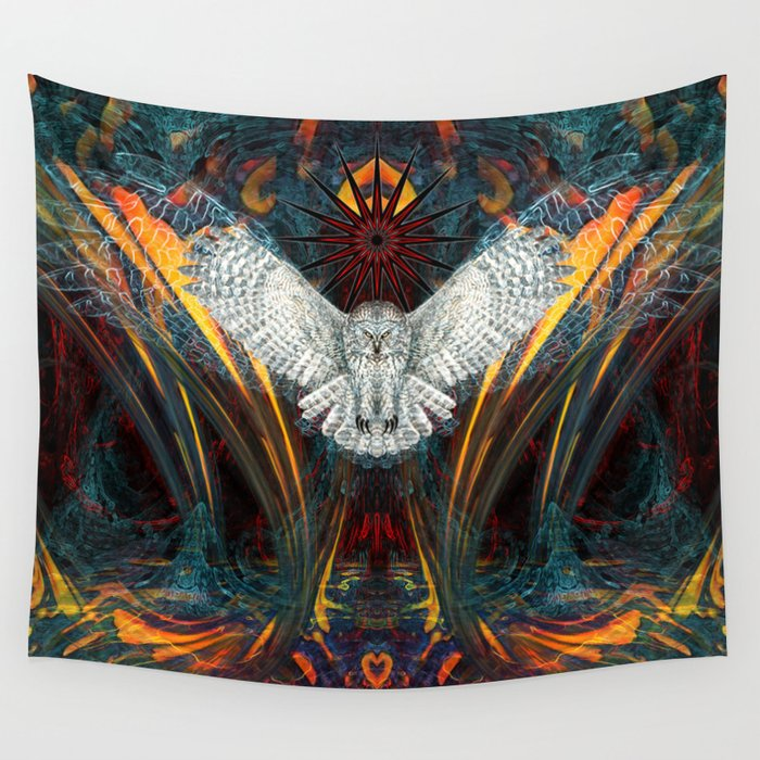 The Great Grey Owl Wall Tapestry