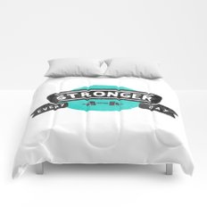 Stronger Every Day (dumbbell) Comforters