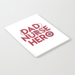 Dad Nurse Hero With Stethoscope 1 Notebook
