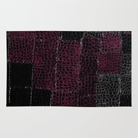 leather Area & Throw Rugs featuring Snake Leather by Peta Sun Fire
