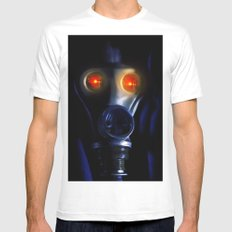 In the bunker SMALL White Mens Fitted Tee