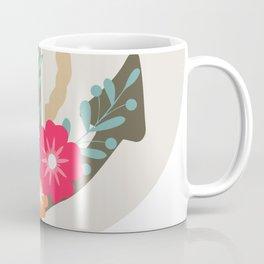 Floral anchor Coffee Mug