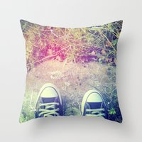 converse Throw Pillows featuring Converse by Jane Mathieu