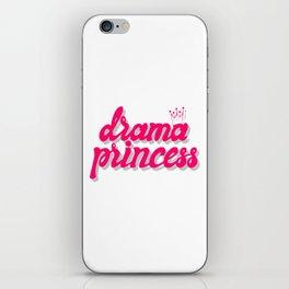 Drama princess iPhone Skin