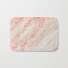 Desert Rose Gold Pink Marble Bath Mat