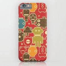 Robots on red. iPhone 6 Slim Case