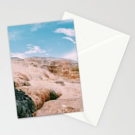 mammoth hot springs Stationery Cards