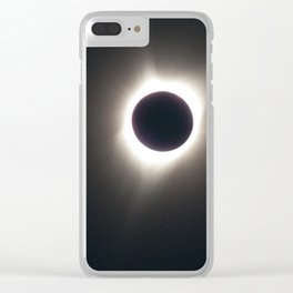 A Solar eclipse Clear iPhone Case