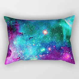purple pink blue nebula Rectangular Pillow