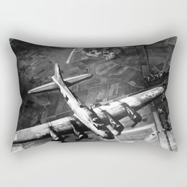 B-17 Bomber Over Germany Painting Rectangular Pillow