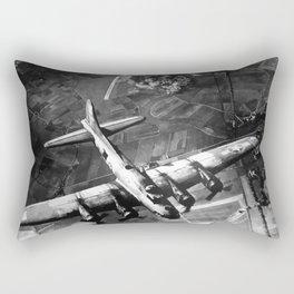 B-17 Bomber Over Germany Painting Rectangular Pillow