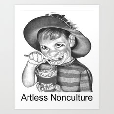 Artless Nonculture (Lowbrow) Art Print