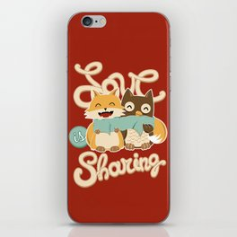 Love is Sharing iPhone Skin