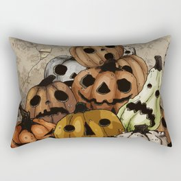 Halloween Pumpkins, a Cornucopia of Jack o' lanterns. spoopy Rectangular Pillow