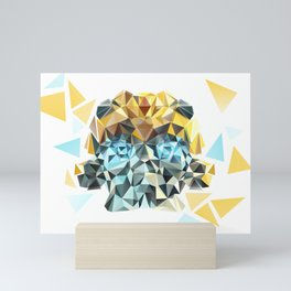 Bumblebee Low Poly Portrait Mini Art Print