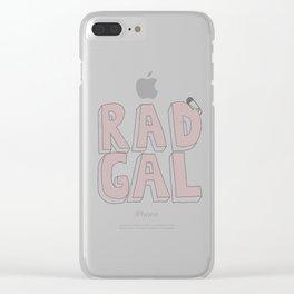 Rad Gal Clear iPhone Case