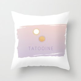 Minimalistic Tatooine Sunset Throw Pillow