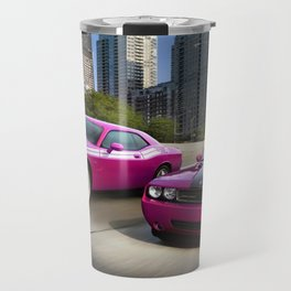 Limited Edition Fuchsia Panther Pink Challenger RT Classic Variation Models Travel Mug