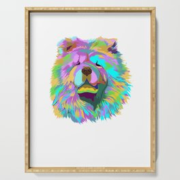 Colourful Chow Chow Dog Serving Tray