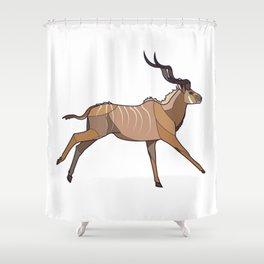 Geometric Antelope Shower Curtain