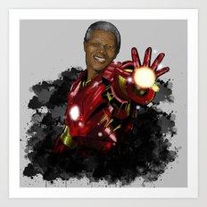 Iron Mandela Art Print