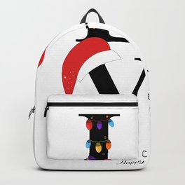 Love text with paw print and colorful light bulb Backpack