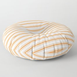 Bright Orange Russet Mattress Ticking Wide Striped Pattern - Fall Fashion 2018 Floor Pillow