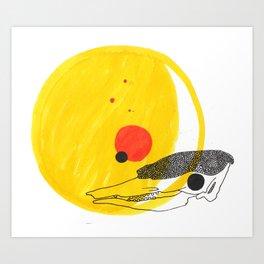Desert Sun Skeleton Art Print