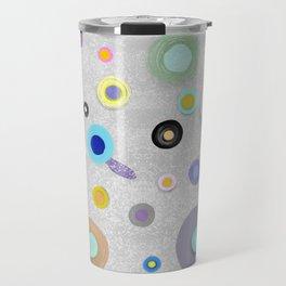 Grey and Purple feelings Travel Mug