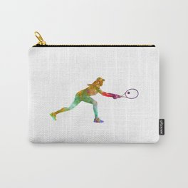 Woman tennis player sadness 02 in watercolor Carry-All Pouch