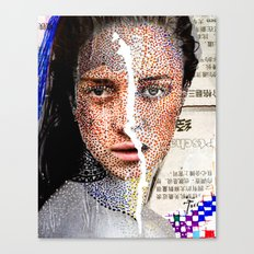 Freckles - Magazine Collage Painting Canvas Print